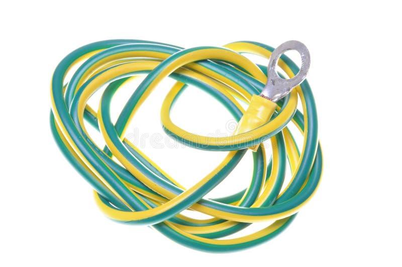 Elektrisches Erdungskabel stockfoto. Bild von boden, farbe - 31228462