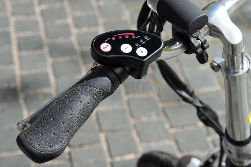 Elektrisches Fahrrad des Gaspedals lizenzfreie stockfotografie