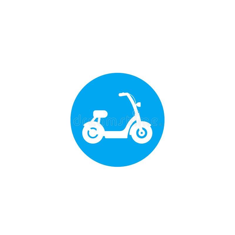 Elektrisches Fahrrad, Rollervektorsymbol lizenzfreie abbildung