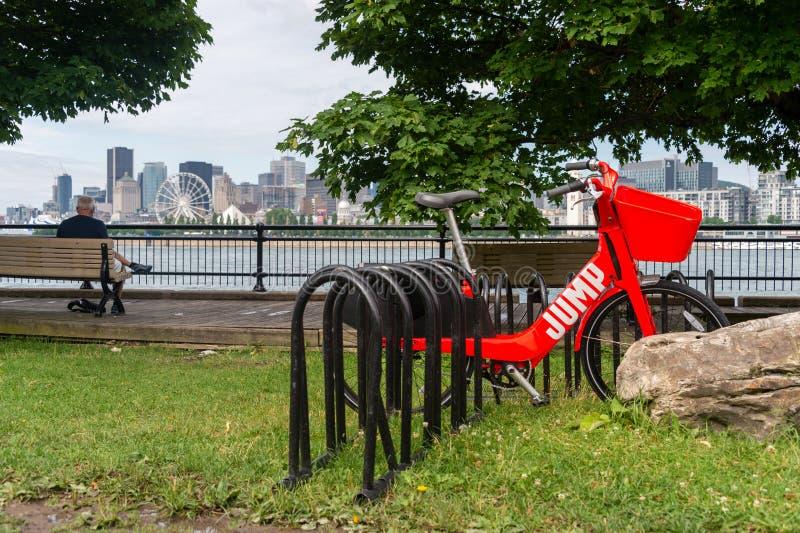 Elektrisches Fahrrad Uber-Sprunges stockfoto