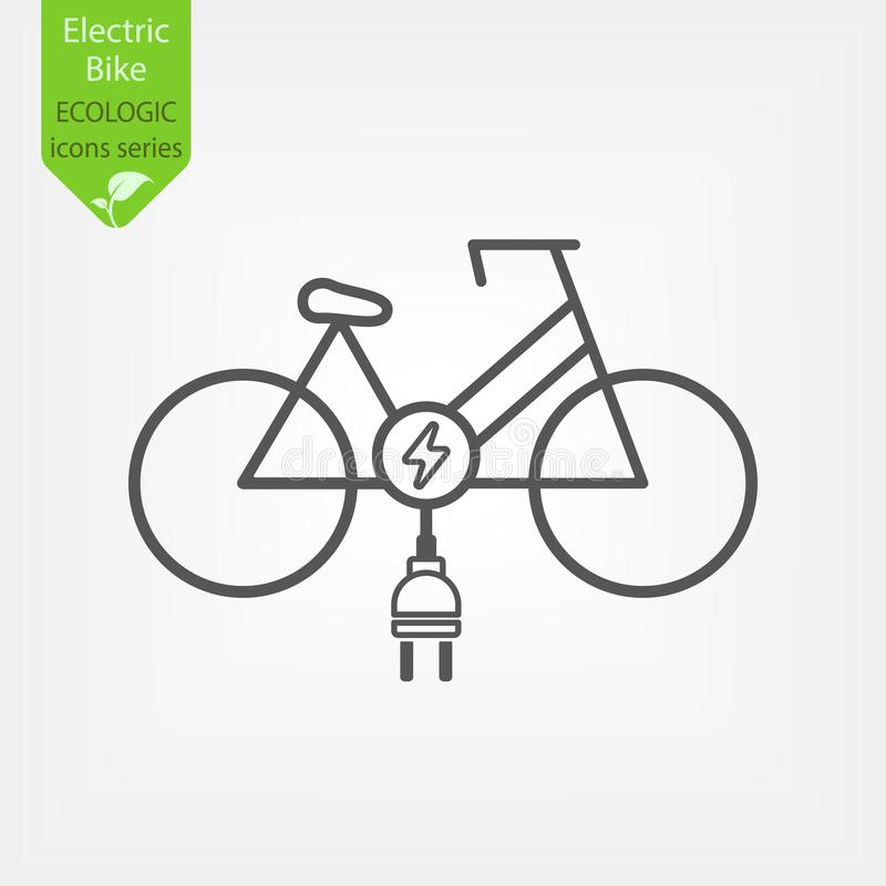Elektrisches Fahrradfahrrad lizenzfreie abbildung