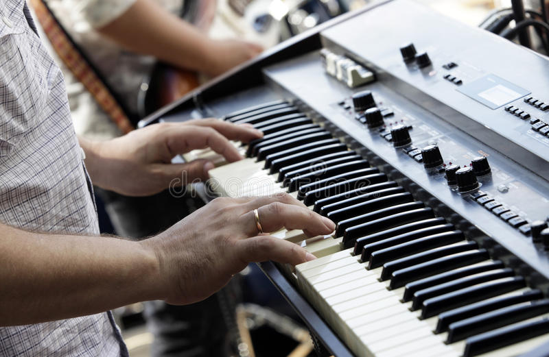 Elektrisches Klavier stockfotografie