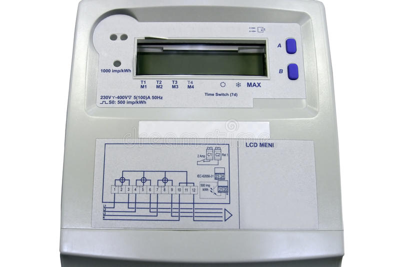 Elektrisches Messinstrument stockbilder