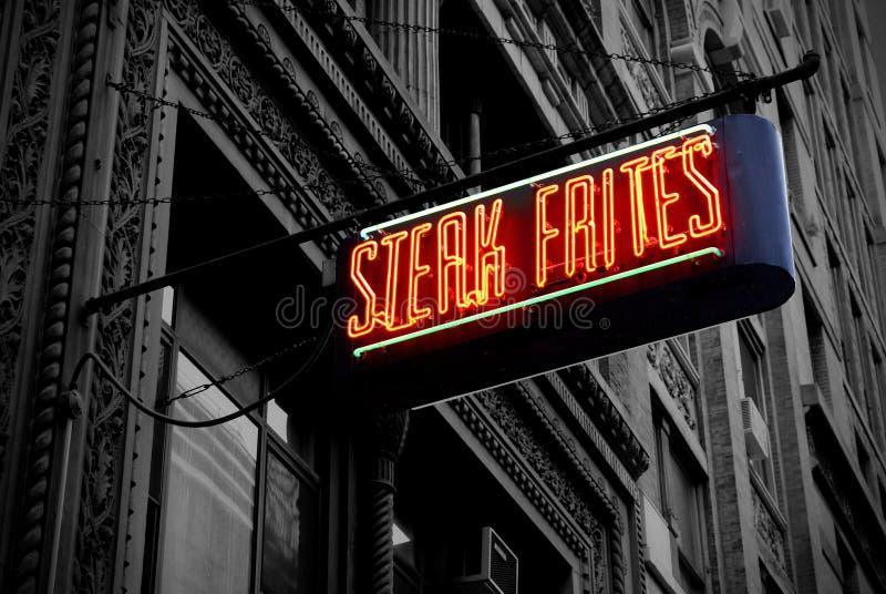 Elektrisches Steak Frites lizenzfreies stockbild