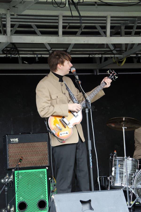 Elektrisk Beatles hedersgåvamusikband arkivfoton