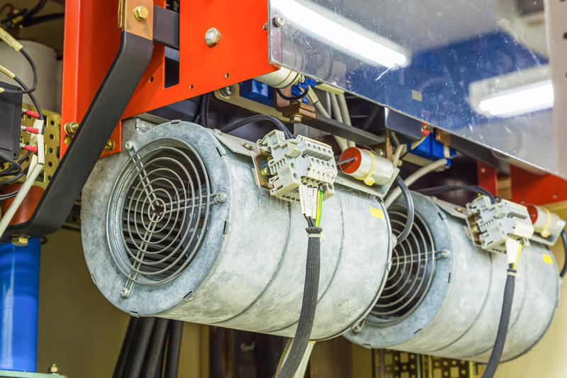 Elektrisk centrifugal fan arkivfoton