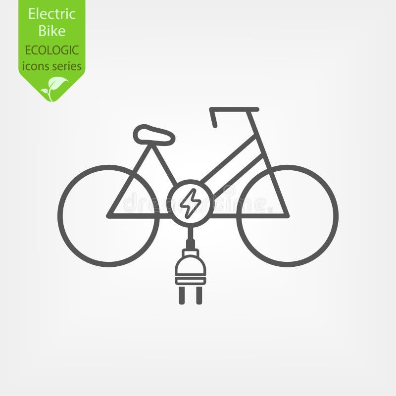Elektrisk cykelcykel royaltyfri illustrationer
