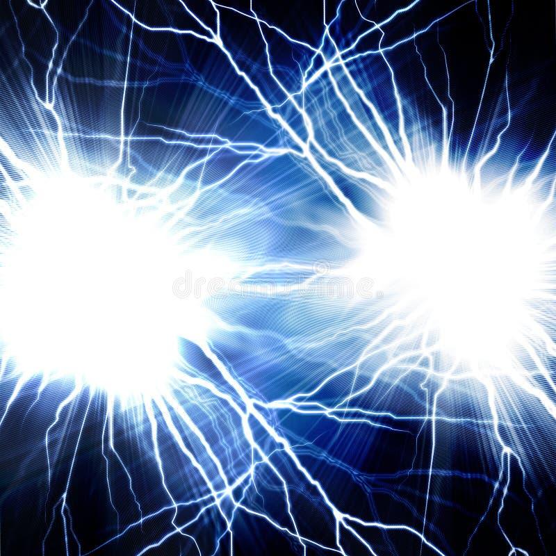 Elektrisk exponering av blixt på en dark royaltyfri fotografi