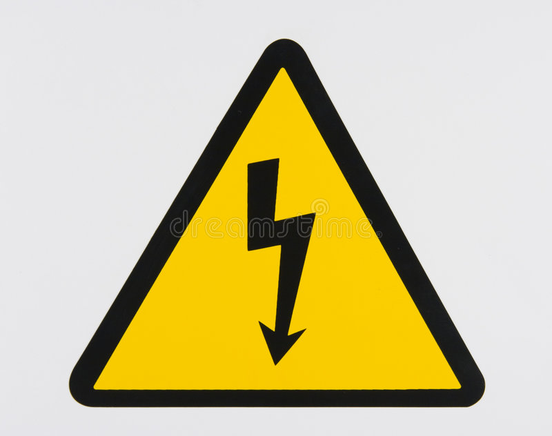 elektrisk fara royaltyfri bild