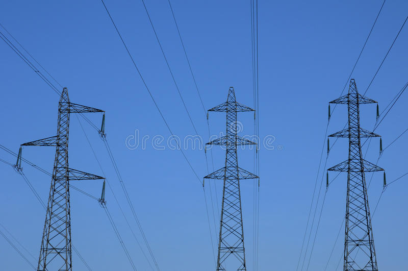 elektrisk france linje val oise för D arkivfoto