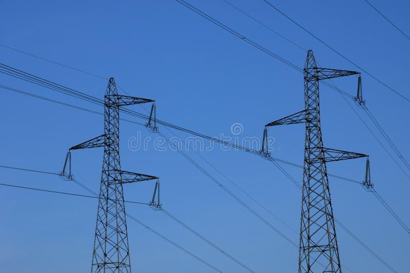 elektrisk france linje val oise för D fotografering för bildbyråer