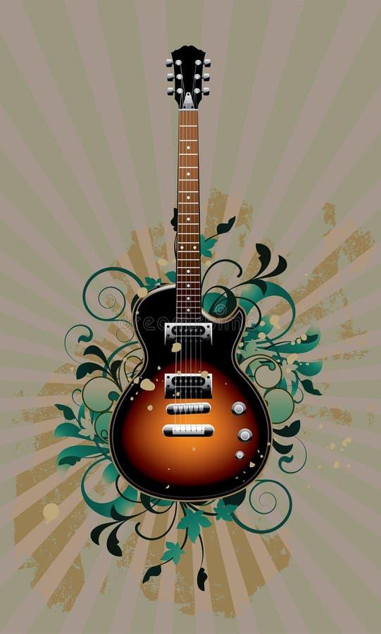 elektrisk gitarr royaltyfri illustrationer