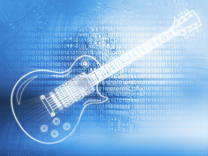 Elektrisk gitarr vektor illustrationer