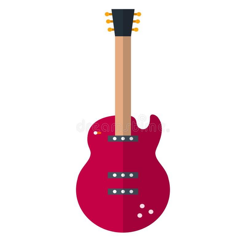elektrisk gitarr stock illustrationer