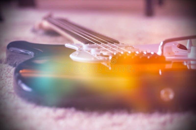 elektrisk gitarrdel arkivbild