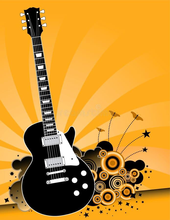 elektrisk gitarrmusikrock royaltyfri illustrationer