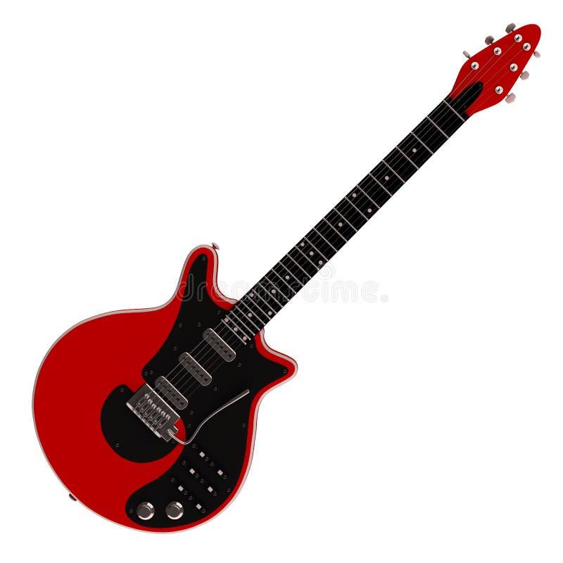 elektrisk gitarrred stock illustrationer