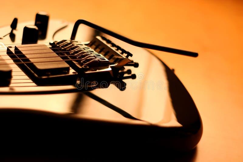 elektrisk gitarrserie för härliga detaljer royaltyfria bilder