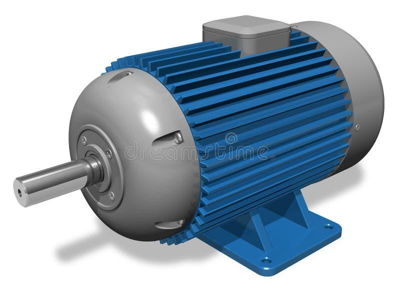 elektrisk industriell motor stock illustrationer