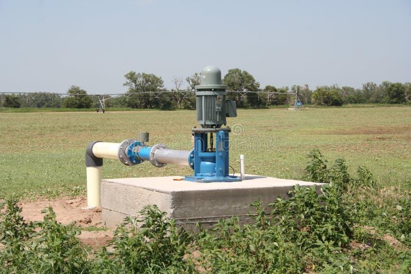 Elektrisk irrigatonpump royaltyfria bilder