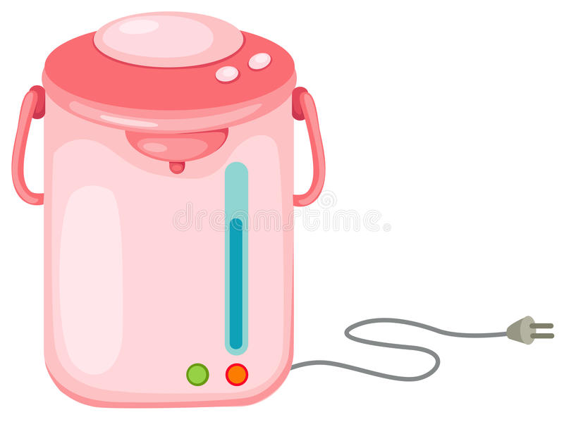 elektrisk kettle stock illustrationer