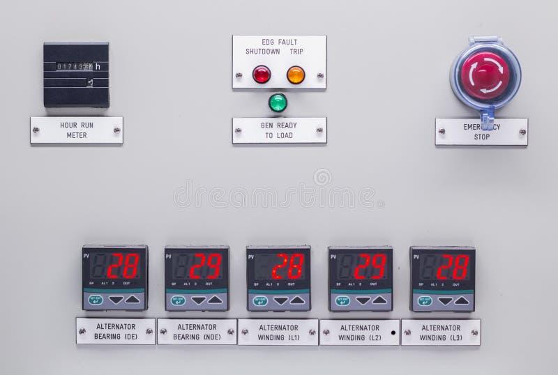 Elektrisk kontroll förser med rutor royaltyfria foton