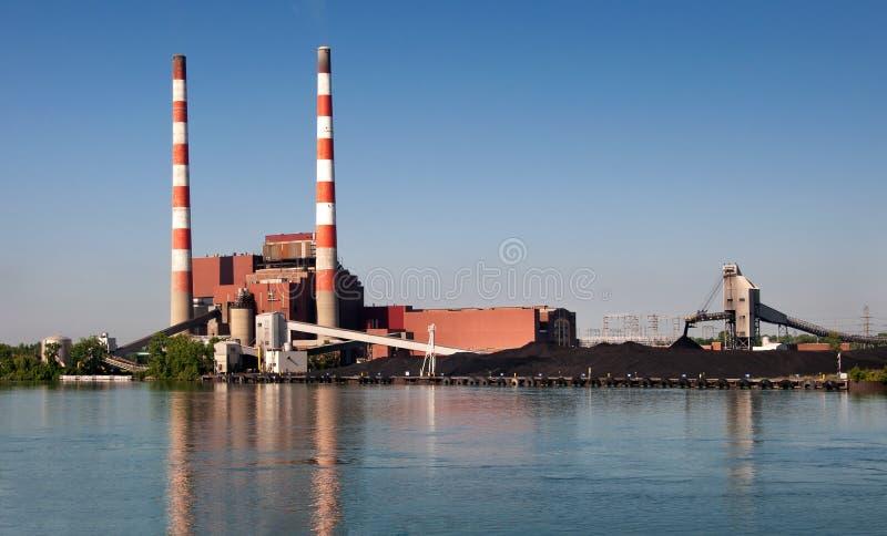 Elektrisk kraftverk arkivfoton