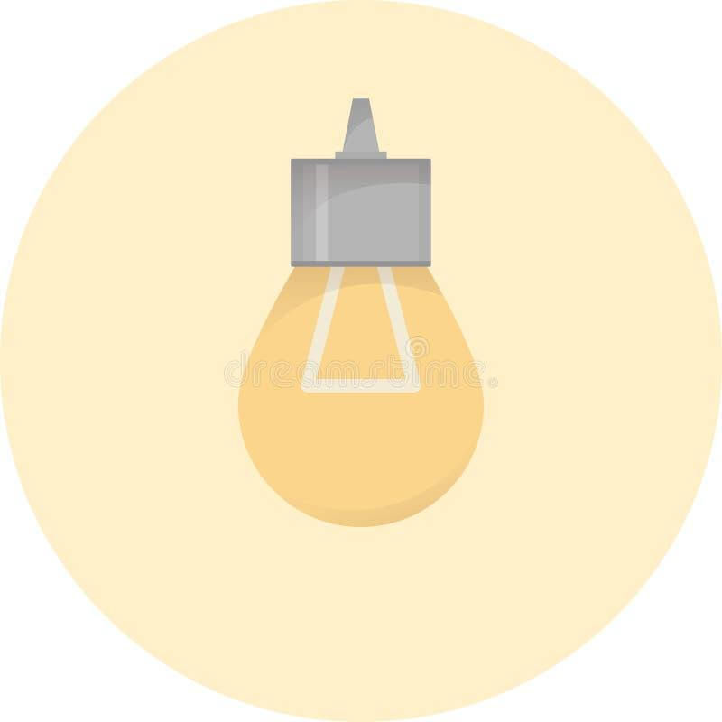 Elektrisk kulasymbol som tänder buld, elektricitetssystemlampa, vektorillustration stock illustrationer