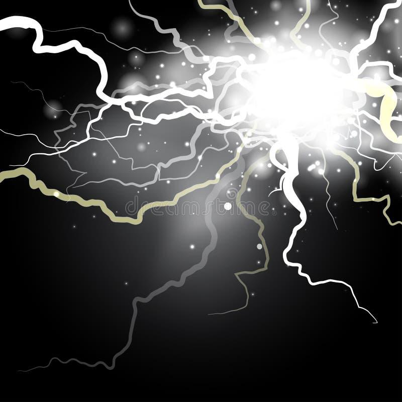 Elektrisk laddning f?r ?skvigg stock illustrationer