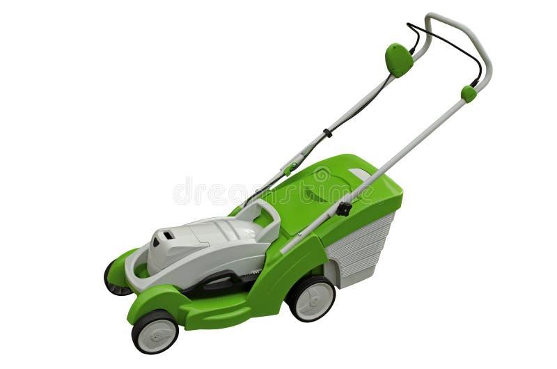Elektrisk lawngräsklippningsmaskin royaltyfri fotografi