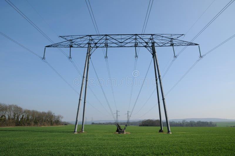 elektrisk linje val oise för D arkivfoto