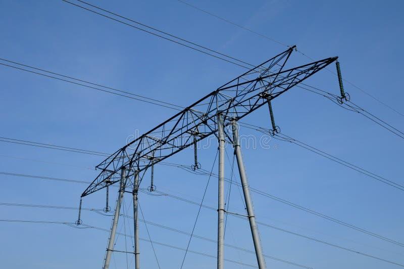 elektrisk linje val oise för D fotografering för bildbyråer