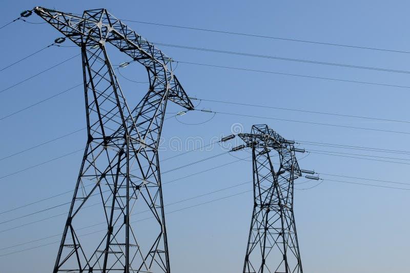 elektrisk linje val oise för D arkivbilder