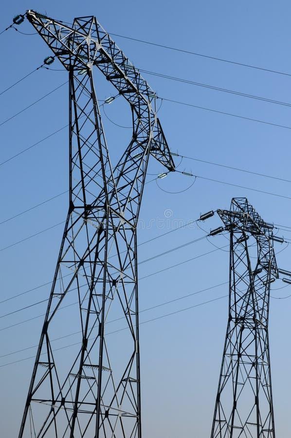 elektrisk linje val oise för D royaltyfria foton