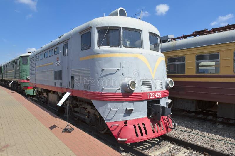 Elektrisk lokomotiv TE2-125 royaltyfri bild