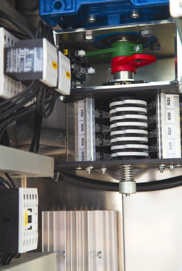 Elektrisk motorisk sikt för drevsovalkovinsida royaltyfri bild