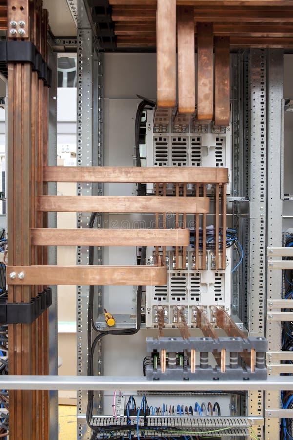 elektrisk panel för cooper royaltyfria foton