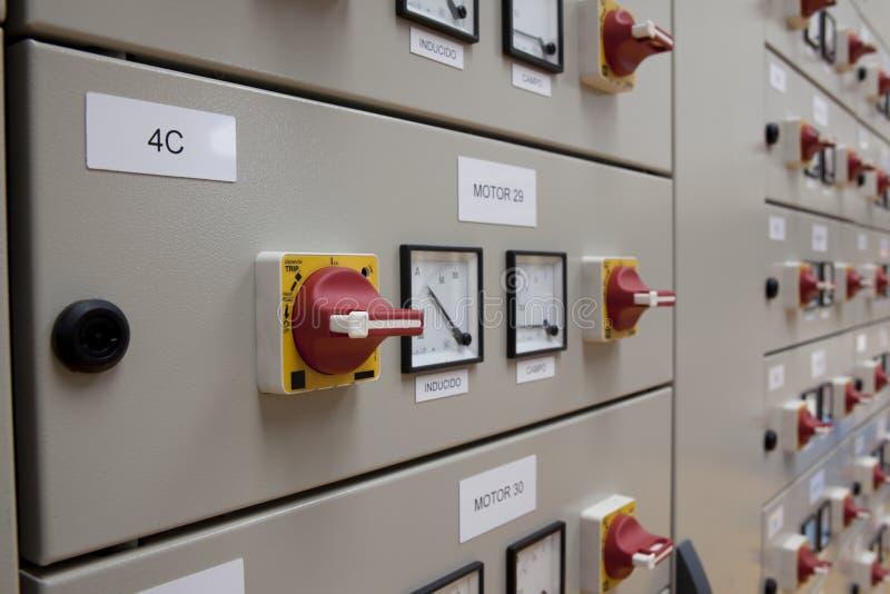elektrisk panel för cubicles royaltyfria bilder