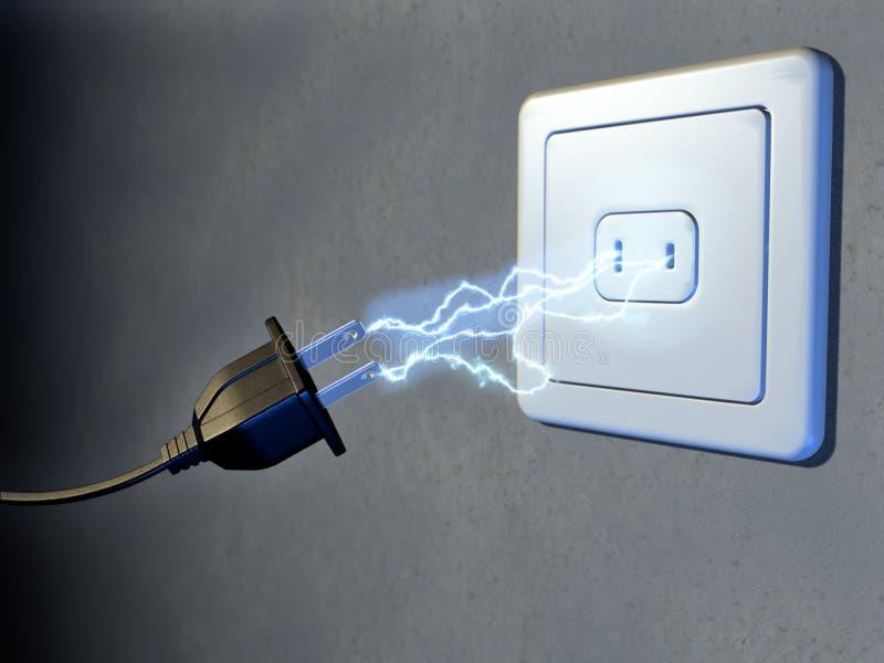 elektrisk propp stock illustrationer