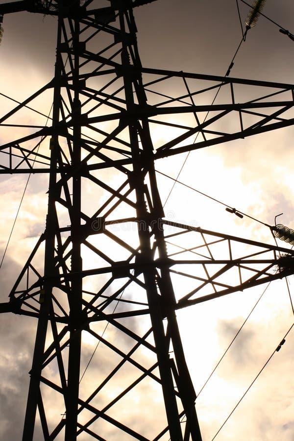 elektrisk pylon för detalj arkivfoto