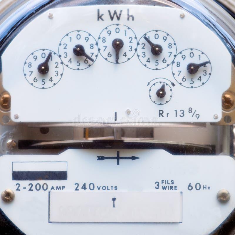 elektrisk räkneverkström royaltyfri foto