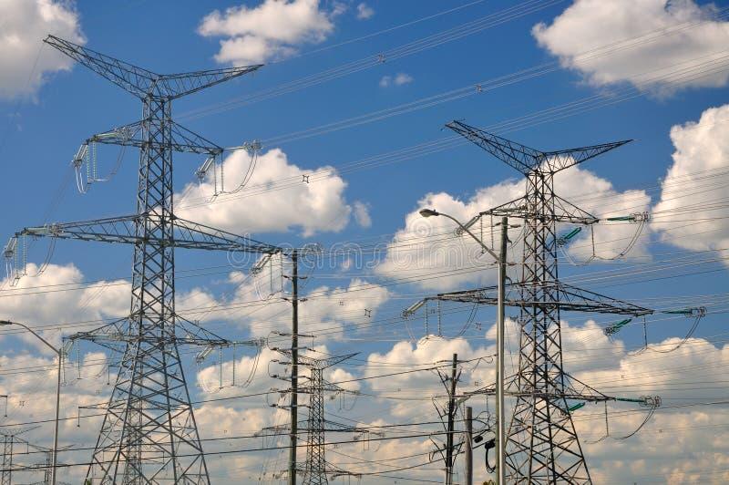 elektrisk rasterström arkivbild