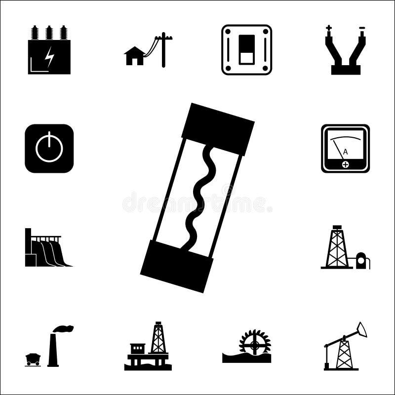 Elektrisk säkringssymbol Uppsättning av energisymboler Högvärdiga kvalitets- symboler för grafisk design Tecken och symbolsamling vektor illustrationer