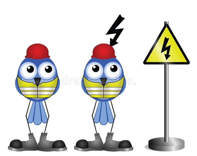 Elektrisk shock vektor illustrationer