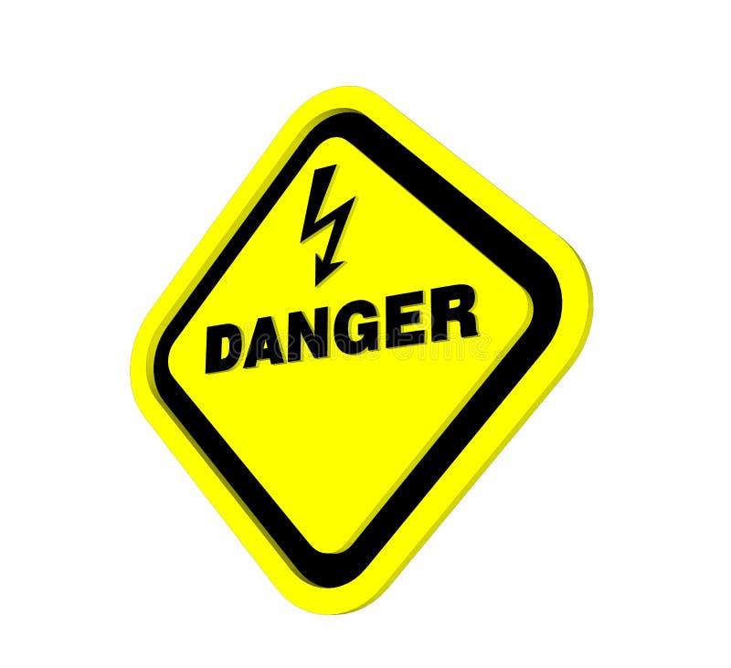elektrisk shock för fara 3d stock illustrationer