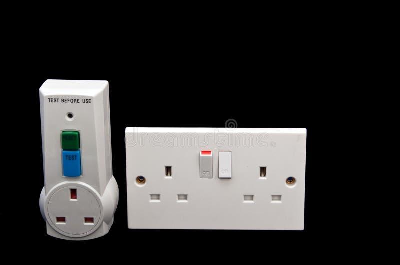 elektrisk skyddsrcdtester royaltyfri bild