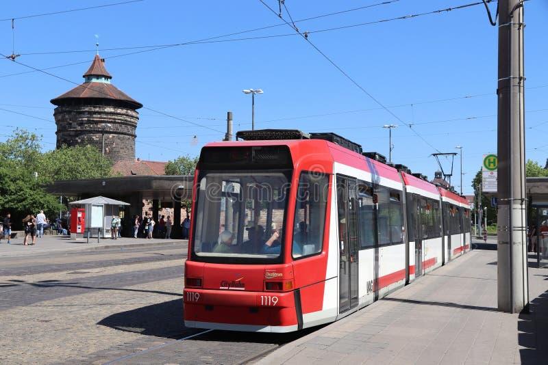 Elektrisk spårvagn, Tyskland royaltyfria bilder