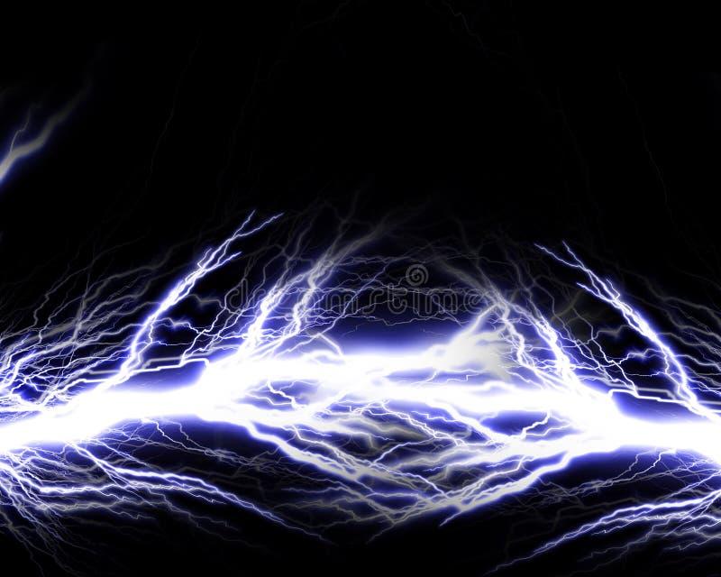 Elektrisk spark vektor illustrationer
