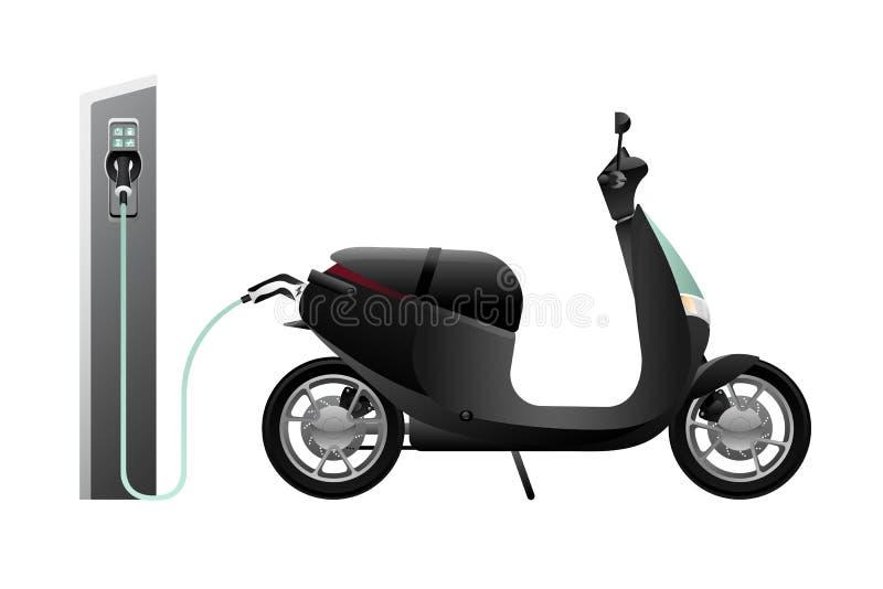 Elektrisk sparkcykel för att dela vektor illustrationer