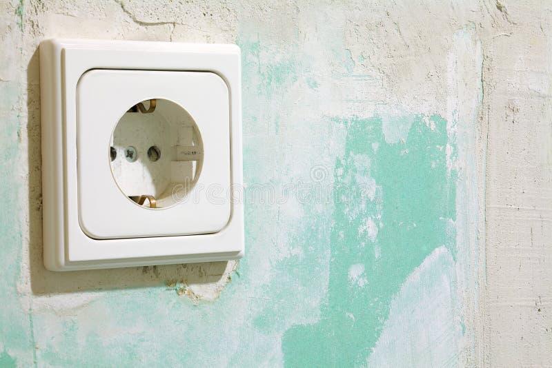 Elektrisk stickkontakt arkivbilder